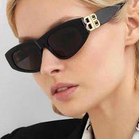 고양이 눈 선글라스 여성 패션 브랜드 디자이너 색 그라디언트 렌즈 카테이 태양 안경 멋진 B 파티 해변 UV400
