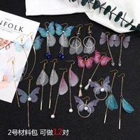 Fatto a mano grande confezione Bella fiaba Dragonfly Farfalle Orecchini ala per cicala ala orecchini fascino orecchini gioielli 1968 q2