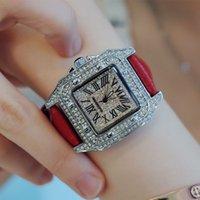 Tendencia de moda estrellas relojes amantes DW TANK SQUINE HOMBRES Full Diamond Luminous