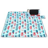 Outdoor Pads Moisture-proof Pad Children Climbing Mat Fleece Waterproof Folding Picnic Large Blanket 79*79IN For Family