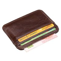 Card Holders Arrival Vintage Men's Genuine Leather Holder Small Wallet Money Bag ID Case Mini Purse For Male