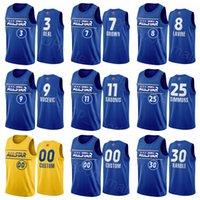 Star All Basketball Jersey Jaylen Brown Julius Randle Ben Simmons Zach Lavine Nikola Vucevic Domantas Sabonis Eastern Conferencia Hombres Azul