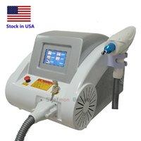 US Stock ND YAG Laser Ögonbryn Tatuering Avlägsnande Acne Behandling Blackdoll Skin Whiten Machine till salu