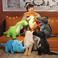Criativo Cute Simulação Dinossauro Dinossauro Brinquedo Pessoas Triceratops Tiranossauro Dragão Longo Dragão Dólar Dom Boneca Menina Dormindo Descanso Criança Presente de Evento de Aniversário