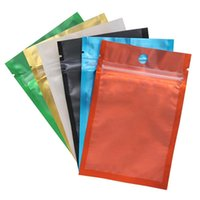 colored Aluminum Foil bag Resealable Zip bag One side clear Back plastic packing bag Smell Proof Pouches DHL
