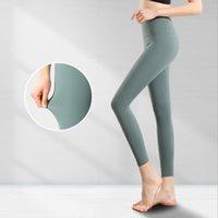 2021 Venta caliente Lulu Yoga Trajes para mujer Leggings Traje Pantalones Alinear Cintura Altas Deportes Raineros Caderas Gimnasio Desgaste Legging Elástico Aptitud Tornillo de entrenamiento