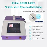 Portable vessel cleaning machine no consumable parts 980nm medical grade diode laser vascular removal salon equipment clinic use red infrared aiming light