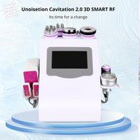 9 in 1 Unoisetion Cavitation 무선 주파수 피부 강화 진공 냉간 광자 레이저 슬리밍 기계 6 큰 2 개의 작은 셀룰 라이트 제거