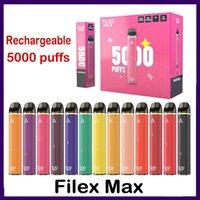 100% аутентичные файловые файлы MAX аккумуляторные одноразовые комплект электронного сигарета 950mah аккумулятор 12 мл цена с кодом безопасности Vape Pen 5000 Puff 12 Color VS Loy XL