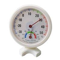 2021丸型ミニ白屋内屋外アナログ摂氏温度計湿度計温度湿度計測定ツール