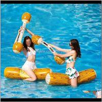 Area inflação brinquedo praia piscina flutuante fileira brinquedos para adulto crianças festa de piscina esportes de água batalha jogos de log rafts flutuadores m7sny