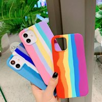 Luxury Rainbow Cartoons Shockproof Phone Cases Soft for IPhone 13 X Xr Xs Case 12 11 Pro Max 8 7 6s Plus SE Liquid Silicone Back Cover