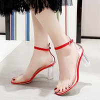 Sandals Women 2021 Summer Shoes Woman Square Hight Heels Office Lady Elegant Ankle Strap Sexy Pumps Female