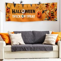 Party Decoration DIY Hallowen Decor Banner Polyester Wall Sign Hanging Eaves Supplies For Household Parties Halloween