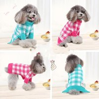 Dog Apparel Pet Warm Pajamas Soft Lattice Cat Puppy Clothes Small Sweater Sweatshirt For Hoodies Ropa Perro