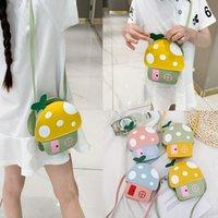 Lussurys designer borse borse straniere borse per bambini femmina 2021 estate cartone animato carino piccola casa borsa fungo a fungo con spaccatura a spalla singola spalla a spalla
