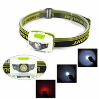Super Bright 300LM R3+2LED Mini Headlight Headlamp Torch Lamp Lights For Outdoor Camping Hunting Bike
