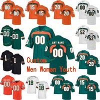 NCAA College Jerseys Miami Hurricanes 2 KJ Osborn 2 Trajan Bandy 20 Ed Reed 22 Robert Burns 24 Travis homer personalizzato calcio cucito cucito