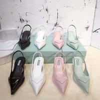 Stiletto High Heel Heel Chaussures Chaussures Original Modèles P-da Sandales pointues de la marque P-DA de luxe 2021 Dernière mode Womens Cuir véritable S