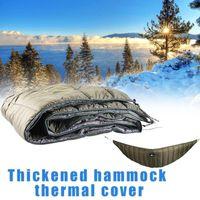 Sleeping Bags Outdoor Hammock Bag Ultralight Camping Under Winter Underquilt Cotton Warm Lazy Portable Quilt Blanket B5s3