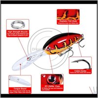 Lungo Lip Deep Immersioni CrankBait Wobbler Laser Lure da pesca 17.5g 11.5cm Large Bill Bank Banch Bilfish Lifelike Wobbli Jllzax XJFShop