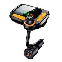 Bluetooth 5.0 FM الارسال للسيارة، 3.0 اللاسلكية بلوتوث راديو FM محول موسيقى مشغل موسيقى FM الارسال / سيارة كيت مع حرية يدوية A4