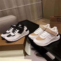 Ronnie-Check-Niedrig-Top-Schuhe Italien Designer Vintage Sneakers Print Strap Leder Luxurys Runner Trainer Lace-up Front Befestigung eines Wanjinqiu