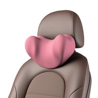 Seat Cushions Car Neck Headrest Pink Pillow For Women Auto Protector Accessories Cushion Memory Foam Travel Rest