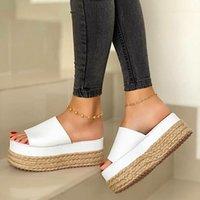 Sandals Womens High Heels Sandal Thick Bottom Casual Shoes Ladies Leisure Summer Wedges Woman Women Platform Mules Slipper