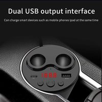 Car Socket Cigarette Lighter Splitter Car Charger USB 2.1A PD 18W Power Adapter Bluetooth 5.0 FM Transmitter With Remote Control