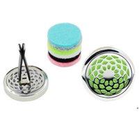 Difusor de aromaterapia del aceite esencial para el hogar para el clip de medallón de la botella de perfume del ambientador del automóvil con 5pcs Pads de fieltro lavables AHE5155