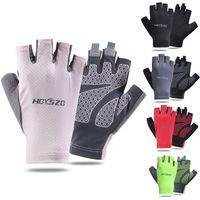 Велосипедные перчатки 1 Наращивание велосипедов половину пальцев --slip-разделение гель езда MTB Road Mountain Bike Sports