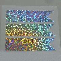 실버 홀로그램 스파클 반짝이 홀로그램 페이지 플래그 스티커, 플래너 스티커 화살표 봉투 패키지 씰 선물 포장