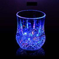 렌즈 머그잔 커피 머그잔 Gaiwan 컵 유리 Drinkware 다이닝 바 파티 와인 안경 LED 가벼운 아크릴 물 유도 ZHL5024