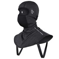 Cycling Caps & Masks Cold Weather Balaclava Ski Winter Windproof Fleece Unisex Face Cover Elastic Fabric Neck Warmer With Eyeglass Holes Hoo