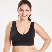 Bras Comfy Breathable Sports Bra Fashion Double Layer Plus Size Seamless Active Vest Fitness Wire Free Underwear