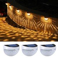 6Pack LED Outdoor Solar Light 1400mAh Solar Power Wasserdichte Wandleuchte Outdoor Garten Treppengang Gänge Pfad Dekoration Projektionslampe