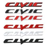 Autocollant de badge Emblème en métal 3D pour HONDA CIVIC CIVIC COUVER COUVERTURE LUMIÈRE LOGO Stickers Stickers Stickers Auto Accessoires