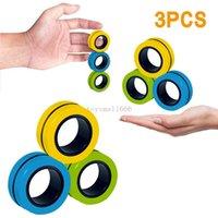 Novos Anti-Estresse Anéis Magnéticos Fidget Unzip Brinquedo Magic Ringtools Crianças Anel Magnético de Dedo Spinner Anel Adulto De Descompression Brinquedos Fast Shipping