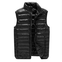 Autumn And Winter Thin Men's Fattening Oversize Fashion Casual Light Down Vest Warm Vests
