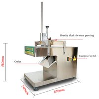 Electric Cut Mutton Roll Slicer Machine Freezing Beef Meat Cutter Multifunctional Food Hard Vegetable Cutting