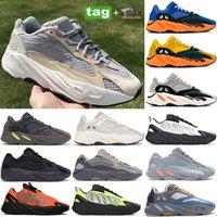 2021 Cream sun 700 men women reflective running shoes Solid Grey teal bright blue orange analog runner sneakers Inertia magnet utility black trainers
