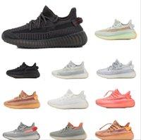 Kanye West Reflektierende Säuglinge Yecheil Kinder Laufschuhe Statische Glow Green Clay Trainer Große Kleine Jungen Mädchen Kinder Kleinkind Sneaker 6 Farben