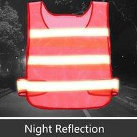 2021 Reflektierende Sicherheitskleidung Verkehrsreinigung Highways Sanitär Atmungsaktives Mesh High Sichtbarkeit Reflektierende Warnung Kleidung Weste