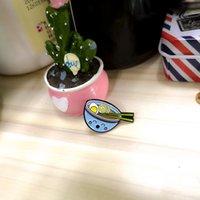 Lovely Cartoon Lamian Noodles Brooches Pin Alloy Enamel Noodle Bowl Brooch Womenshirt Decor Versatile Badge 2 9xx T2
