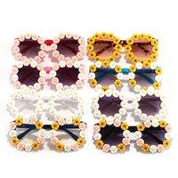 Kinder Sonnenbrille Kleine Gänseblümchenbrillen Mädchen Straße Schießen Konkave Modellierung Sonnenbrille Pfeil Kinder Strand Eyewear Gläsern IIA953