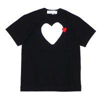 클래식 플레이 유니섹스 티셔츠 # C095 여름 반팔 패션 티셔츠 하라주쿠 고급스러운 스타일리스트 심장 패턴 남성 여성 디자이너 CDG 캐주얼 힙합 탑스