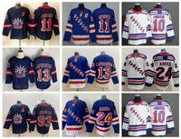 2021 New York Rangers Hockey Jerseys Mens Artemi Panarin Jersey Mika Zibanejad Alexis Lafrenière Kaapo Kakko Igor Shesterkin Chris Kreider cousue