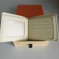 Diseñador de alta calidad Bolsas de cuero genuinas Moda para hombre y mujer Carteras monedero billetera bifold corta