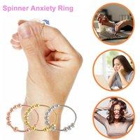 Fidgets Brinquedo Spinner Único Bobina Espiral Fidget Anel Beads Rodar livremente Anti Antiy Ansey Anéis Brinquedos para Menina Mulheres